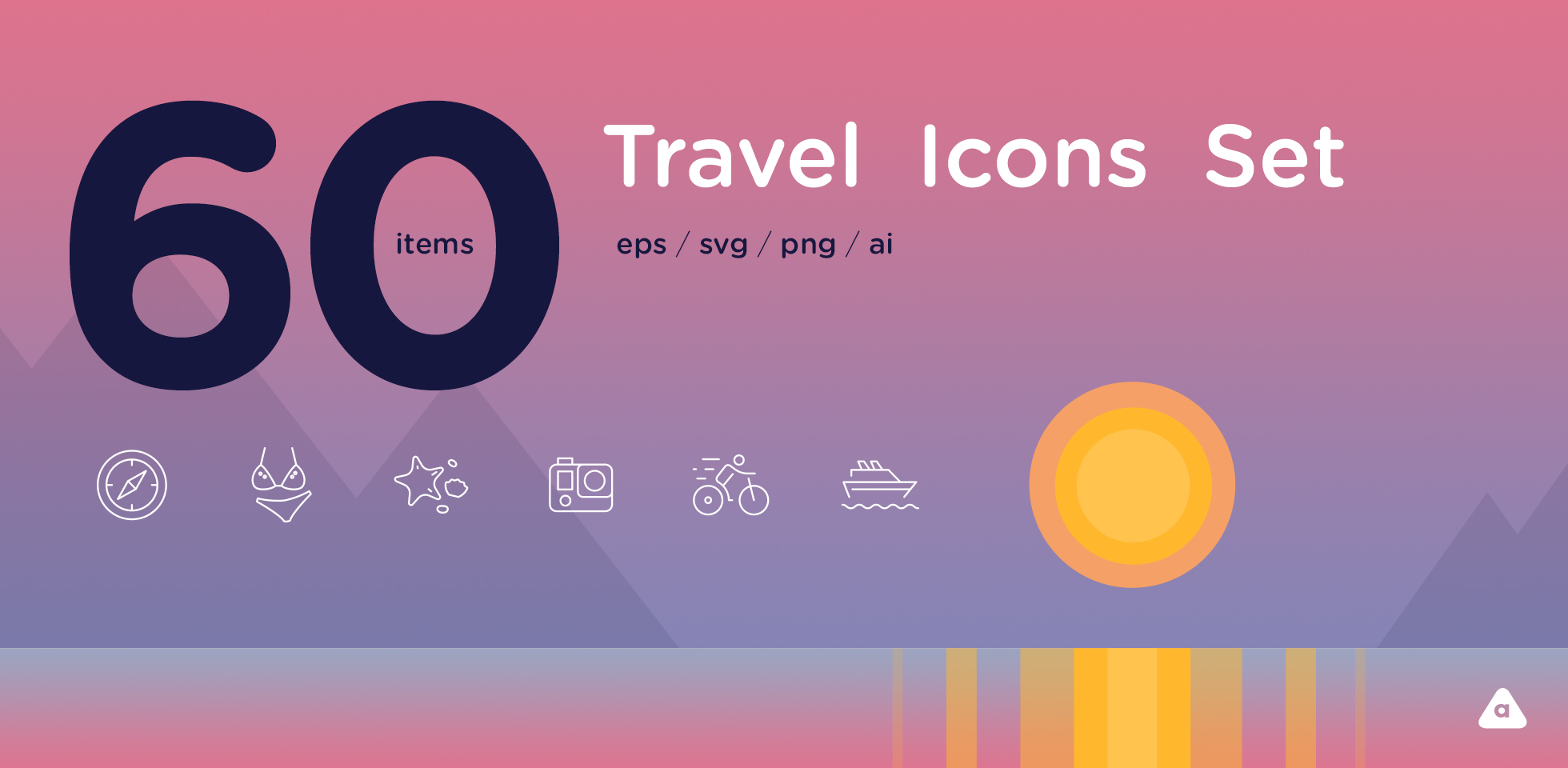 Free Download: Travel Icon Set