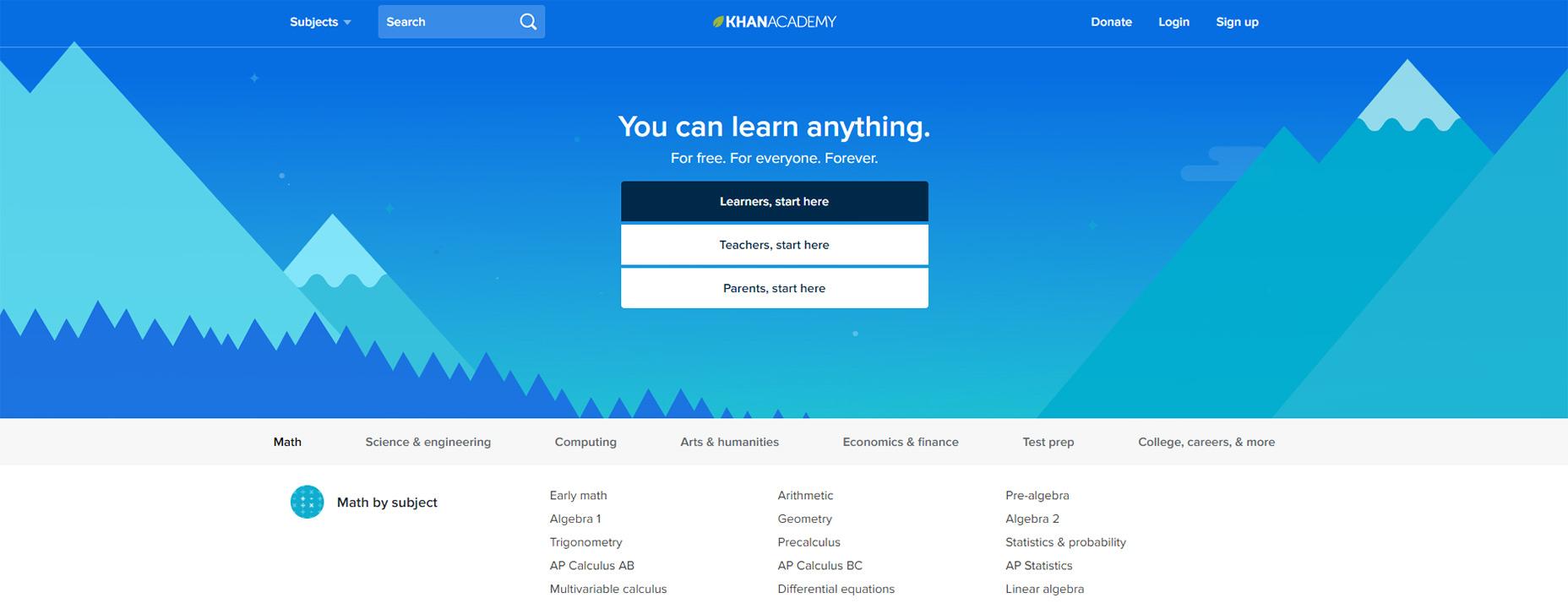 09-khan-academy-homepage