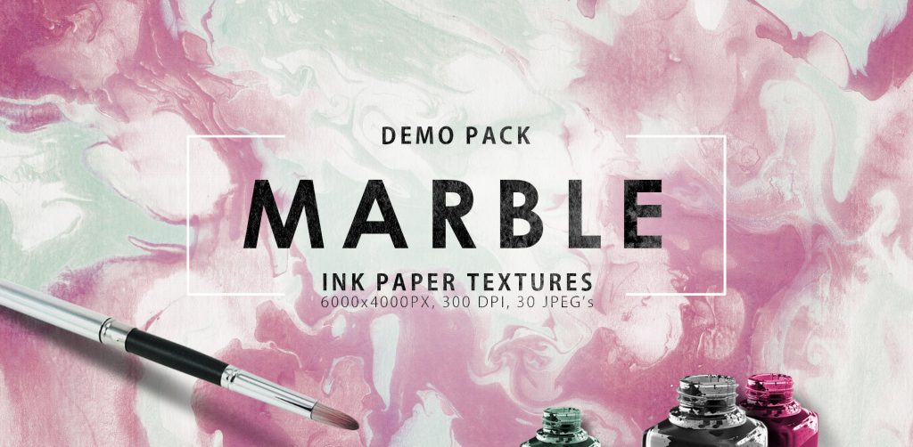 Free Download: Marble Ink Paper Textures