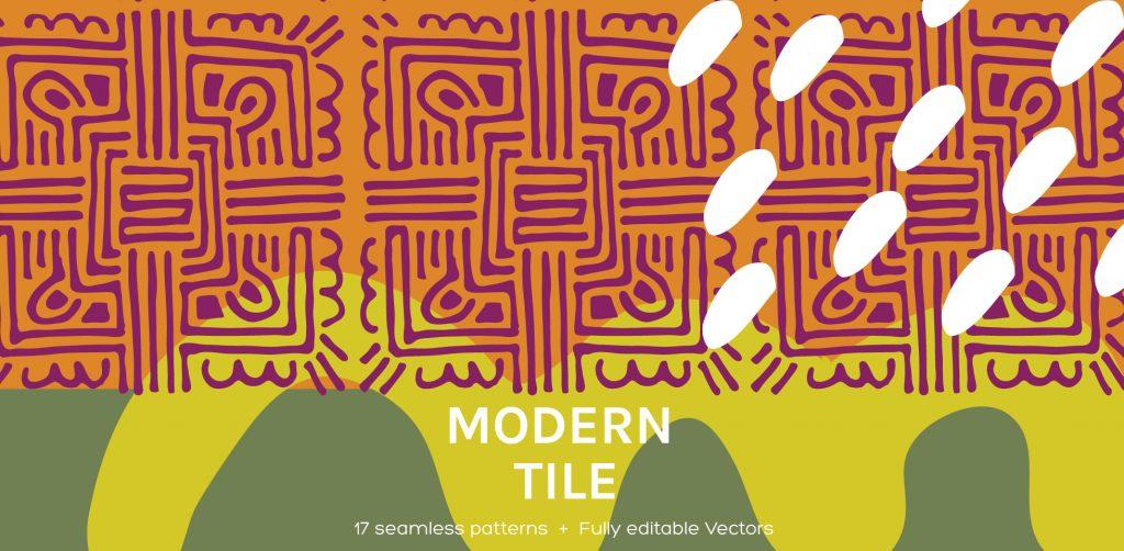Free Download: Modern Tile | Seamless Patterns