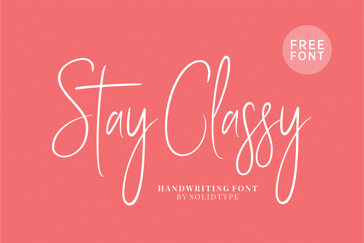 Free Download: Stay Classy Font