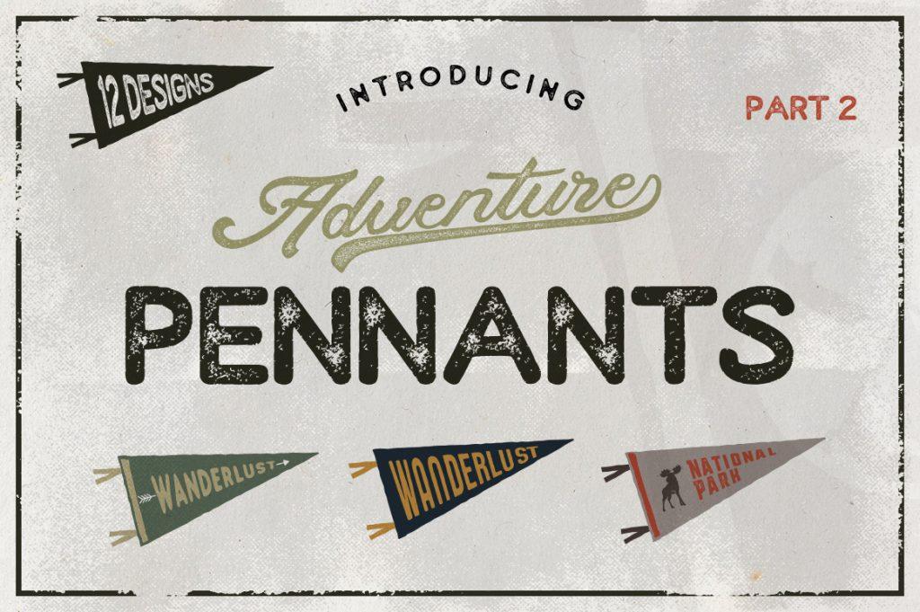 Free Download: Vintage Pennants Set