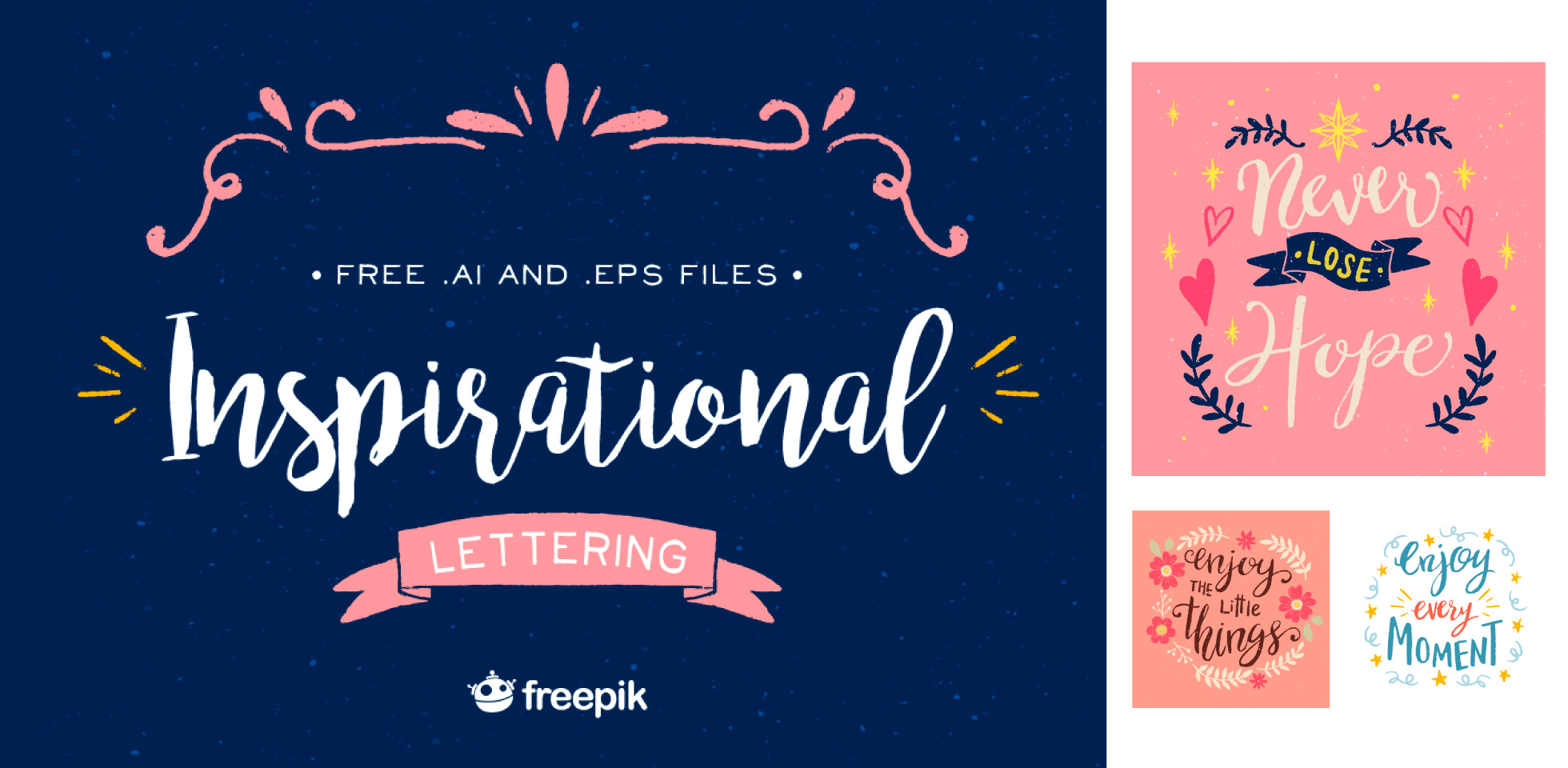 Free Download: Inspirational Lettering Set