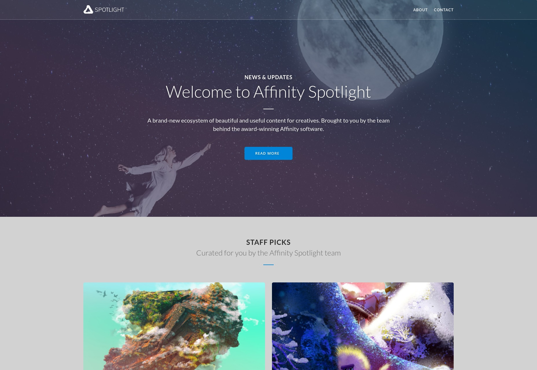 Affinity Spotlight Home Page