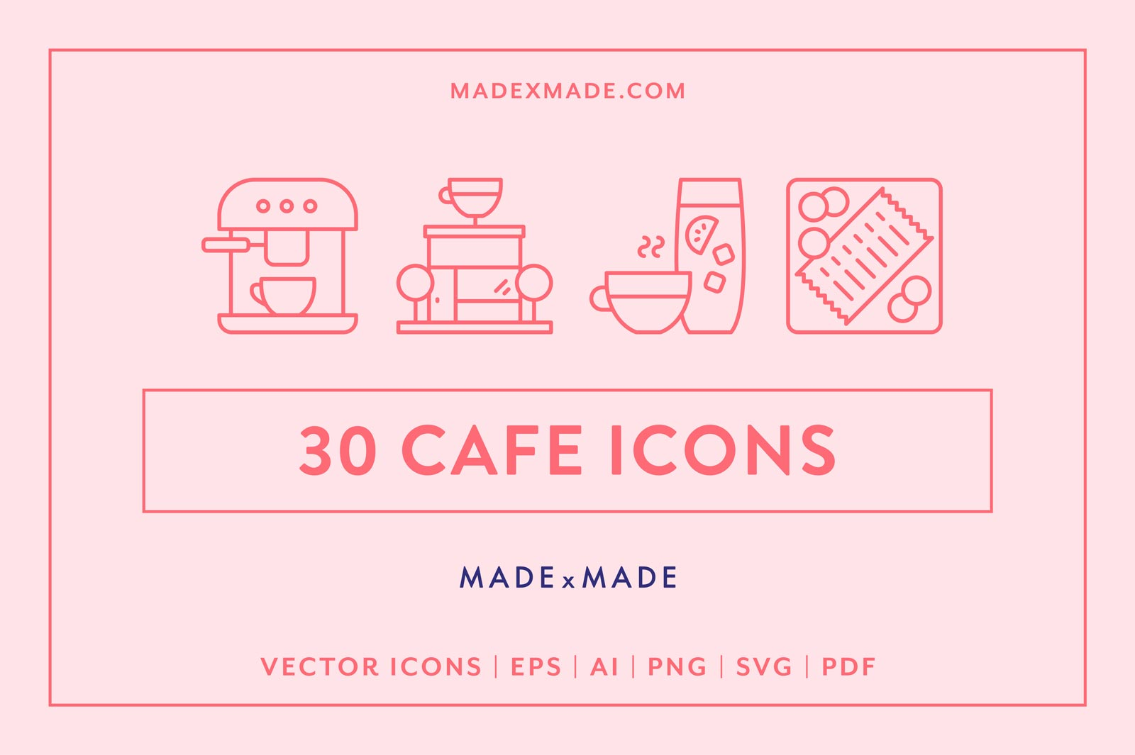 Free Download: 30 Café Icons