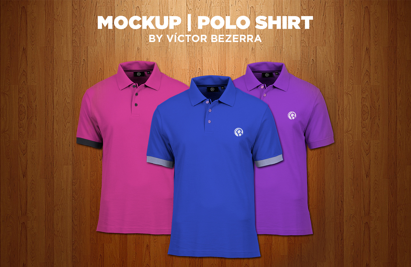Free Download: Polo T-shirt Mockup