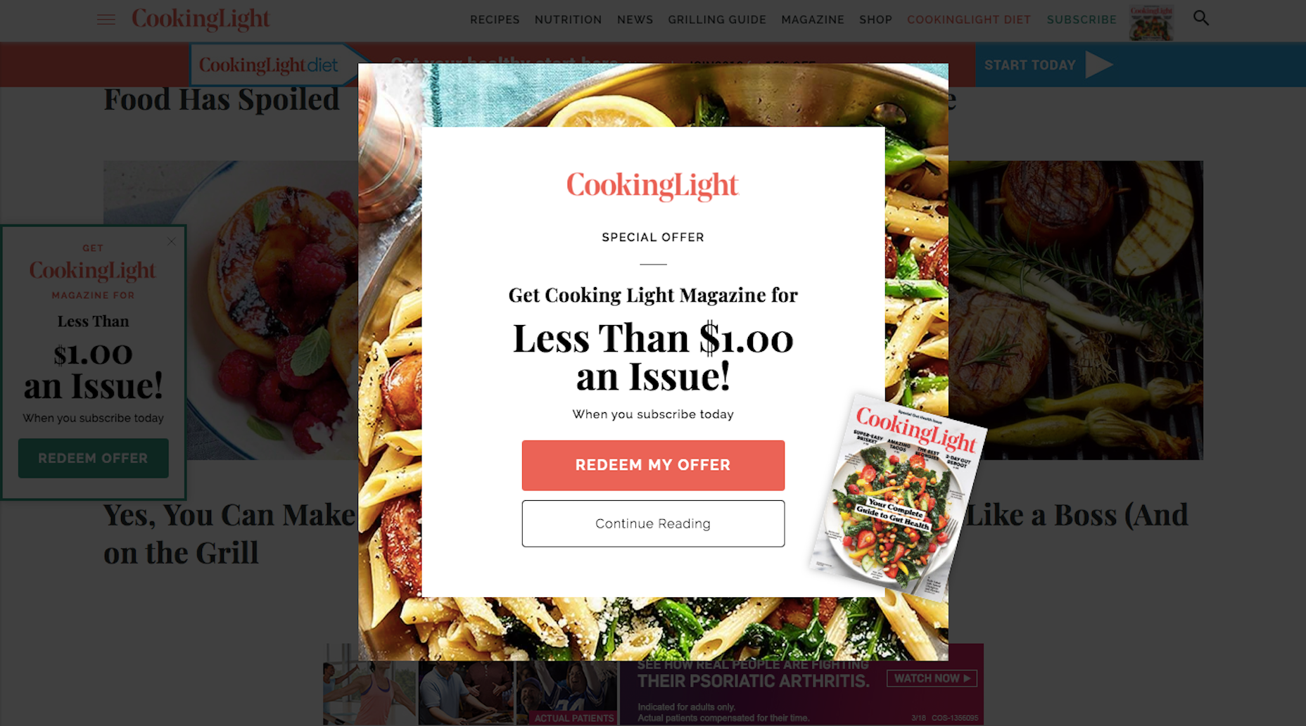 Cooking Light Modal