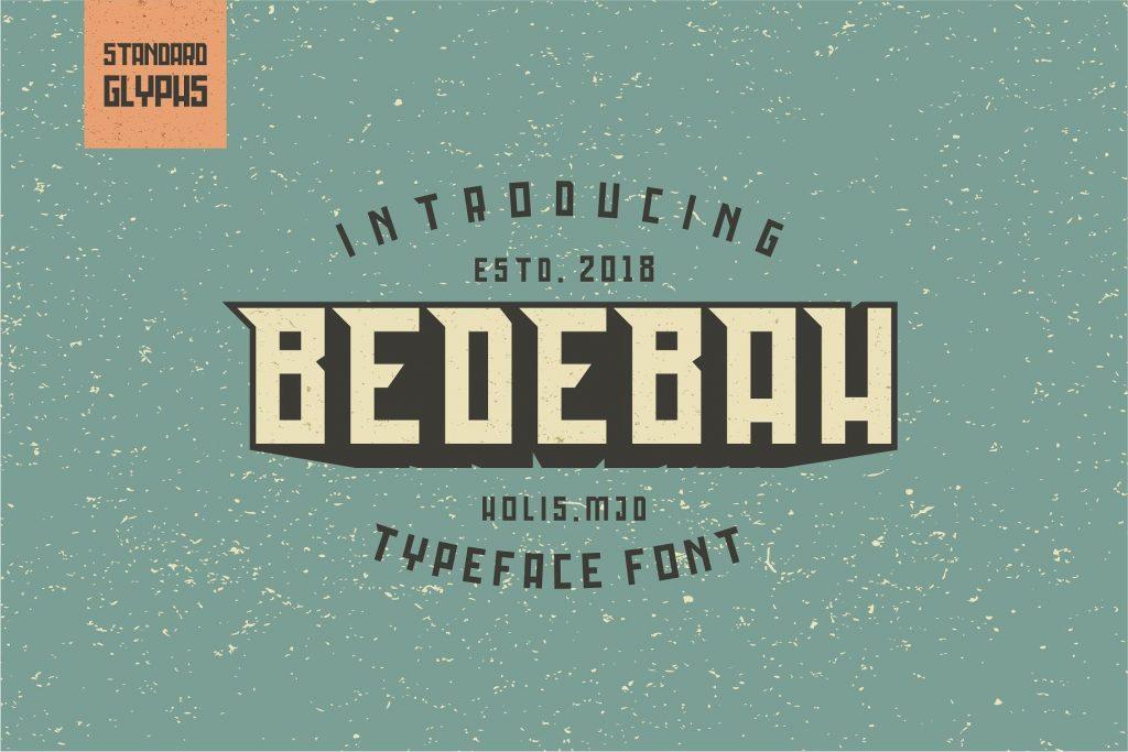 Free Download: Bedebah Font