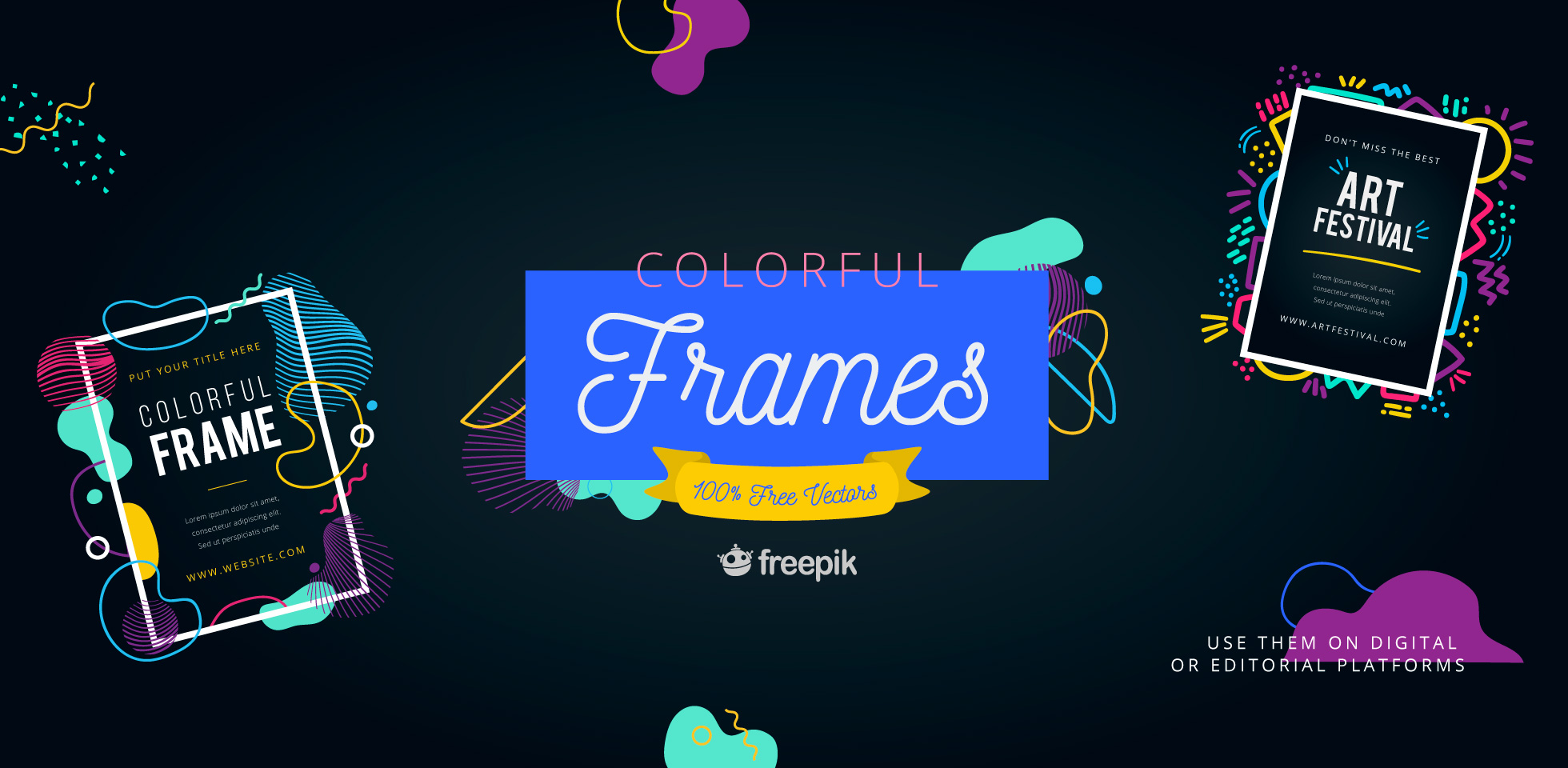 Free Download: Colorful Frames