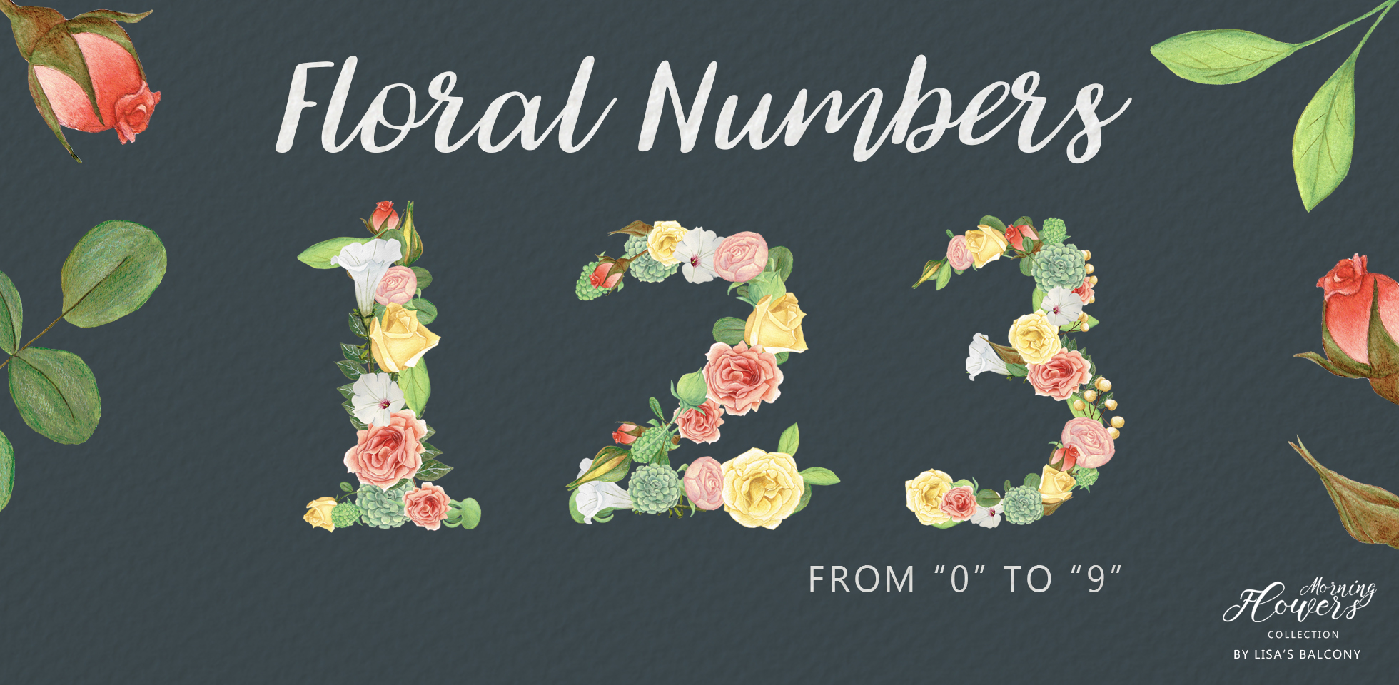 Free Download: Floral Numbers
