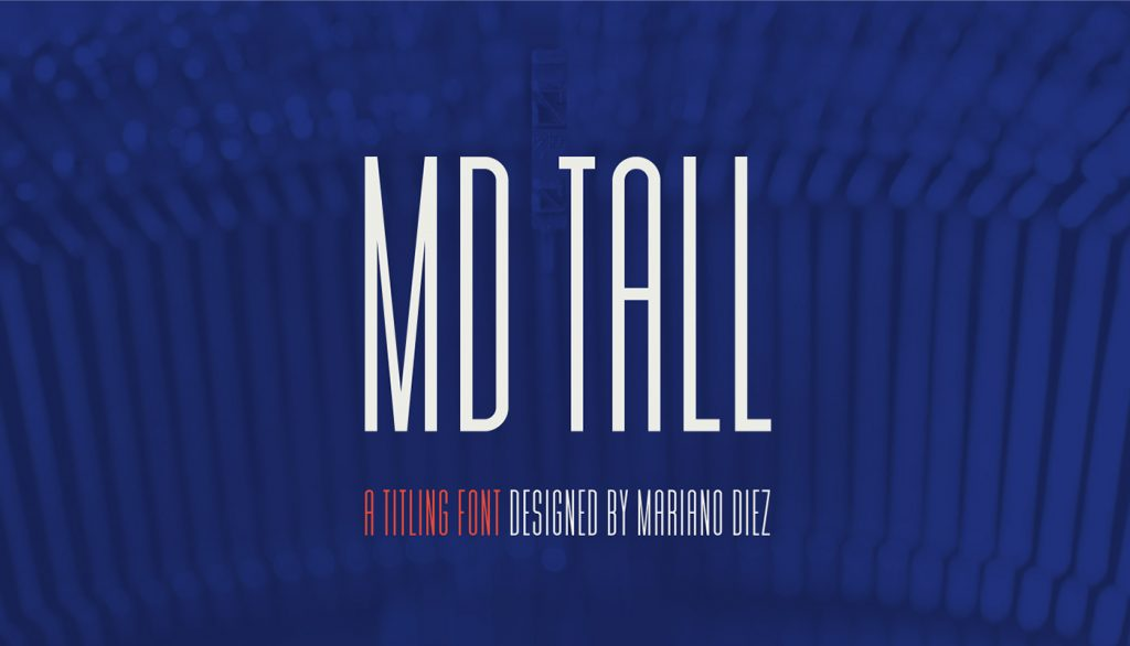 Free Download: MD Tall Font