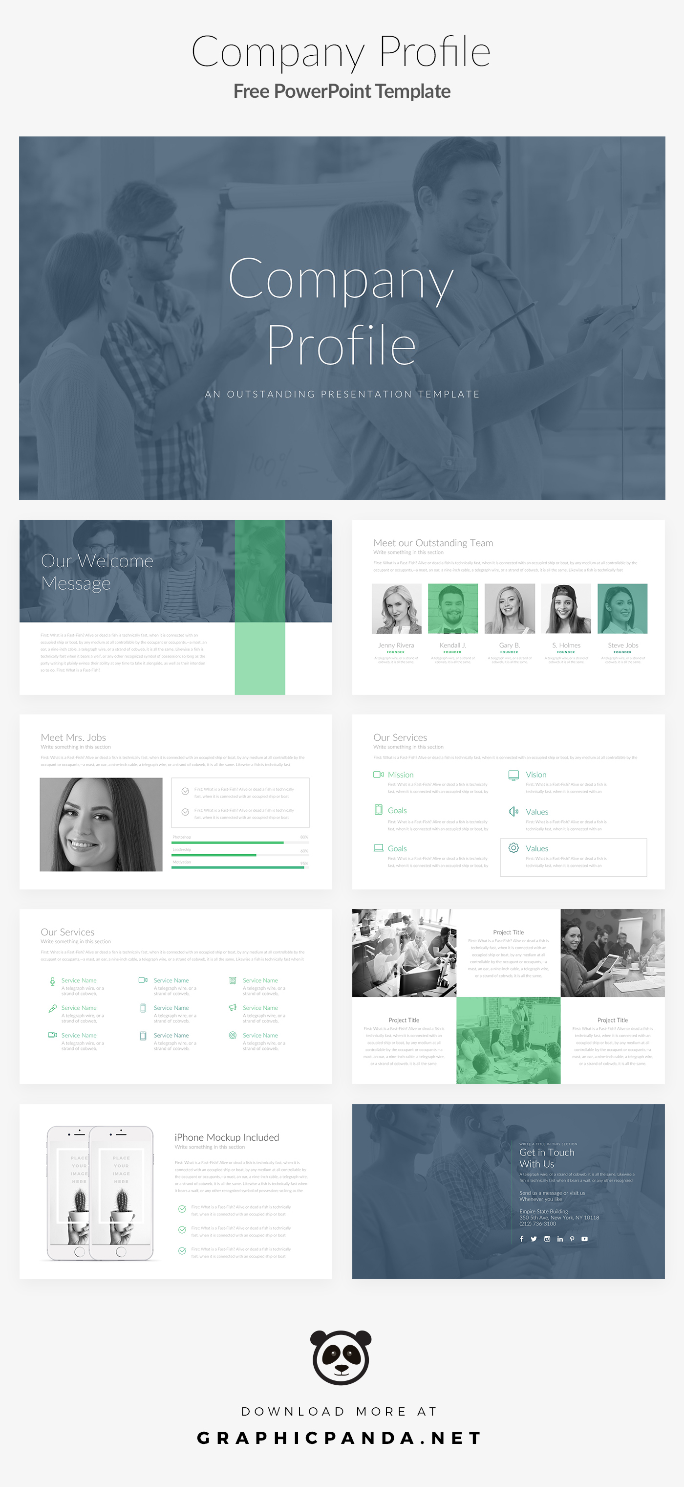 free download company profile powerpoint template webdesigner depot