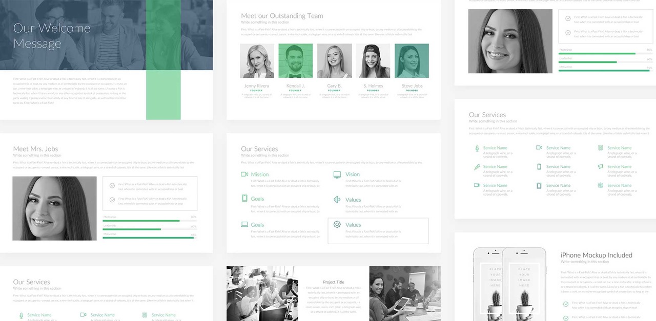 Free Download: Company Profile PowerPoint Template | Webdesigner Depot