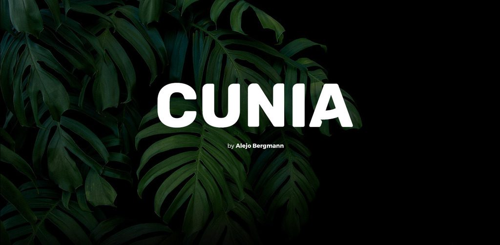 Free Download: Cunia Font