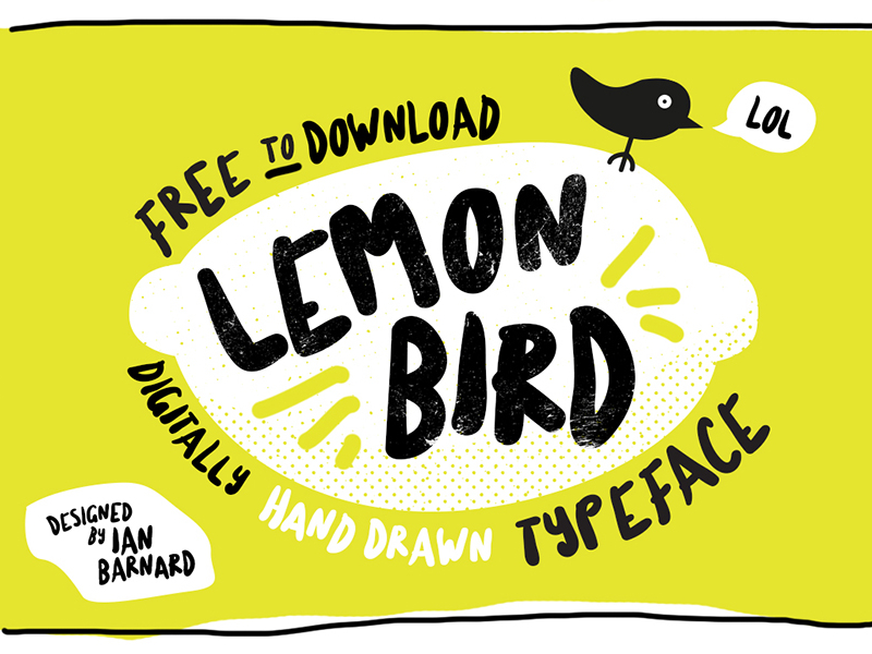 Free Download: Lemon Bird Font
