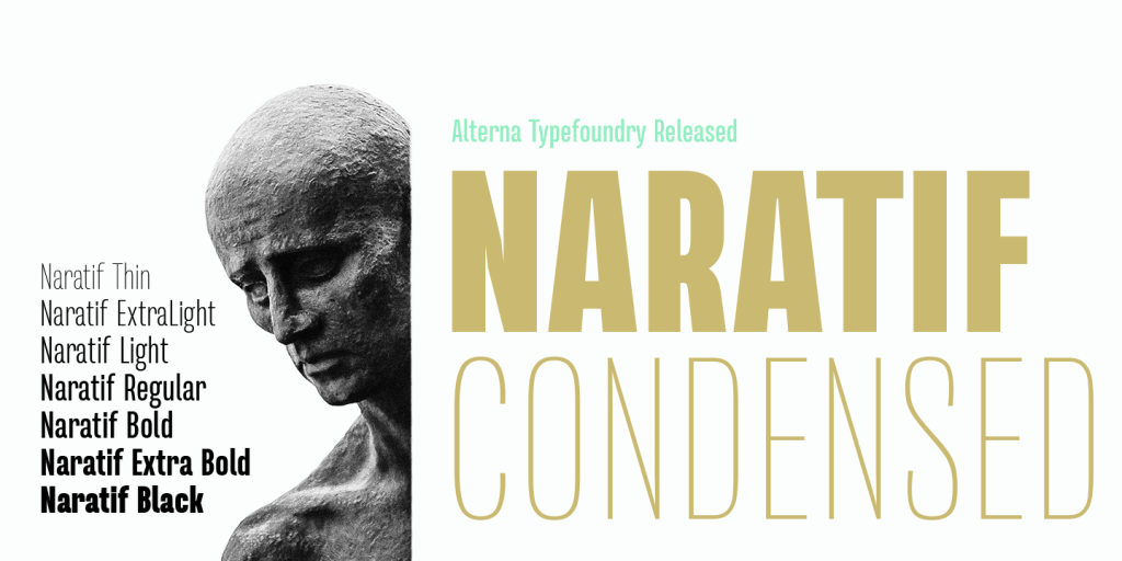 Free Download: Naratif Bold Italic and Naratif Thin