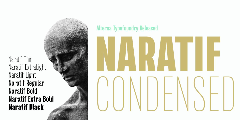 Free Download: Naratif Bold Italic and Naratif Thin