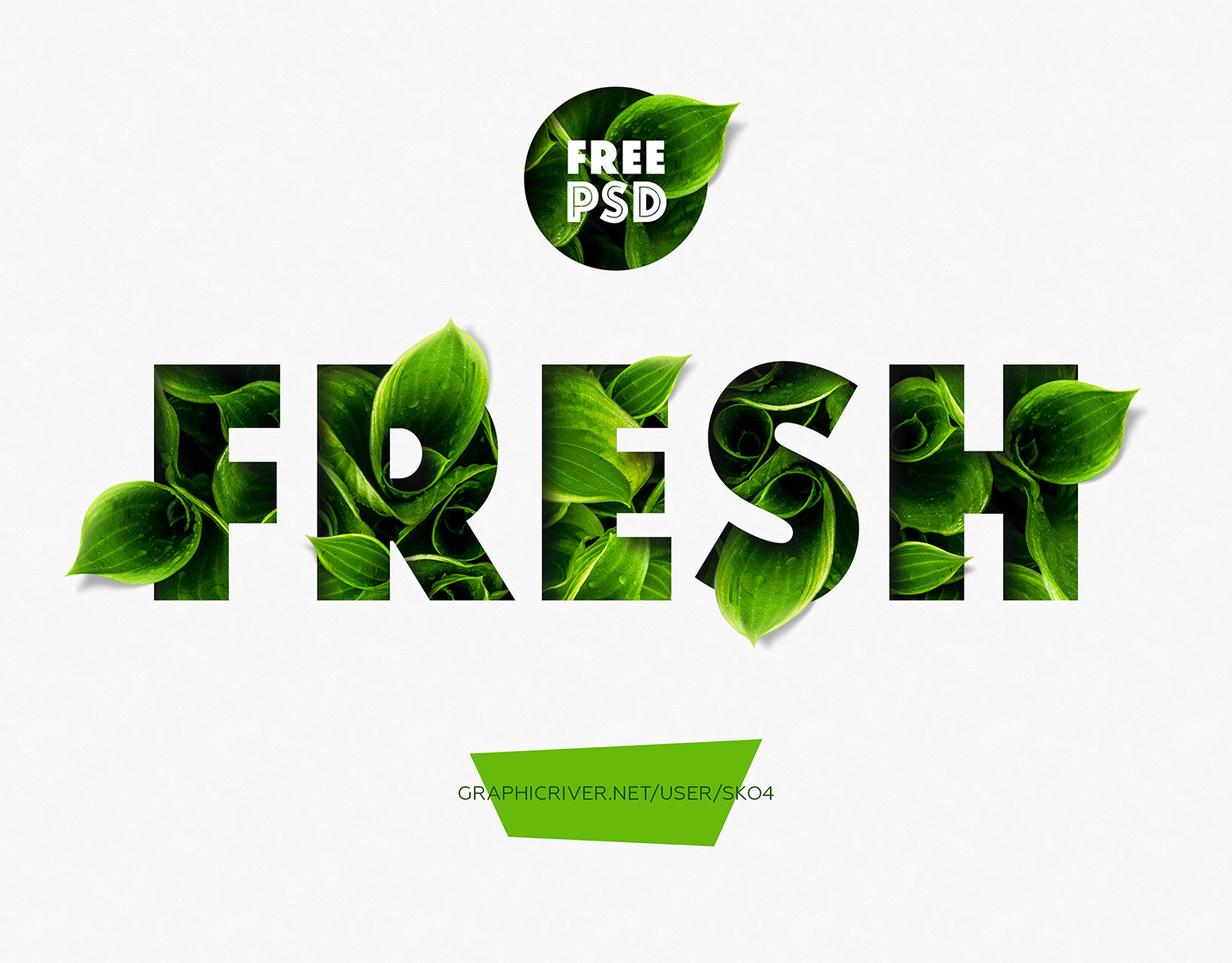 Free Download: Fresh PSD Mockup