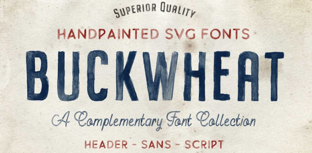 Free Download: Buckwheat SVG Font