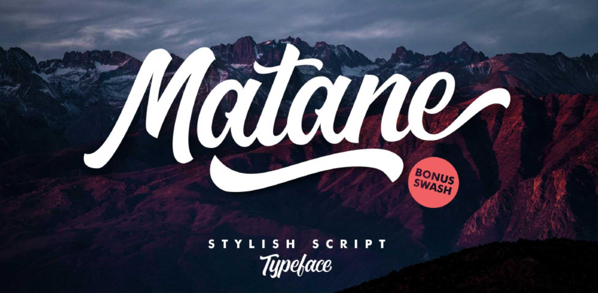 Free Download: Matane Font