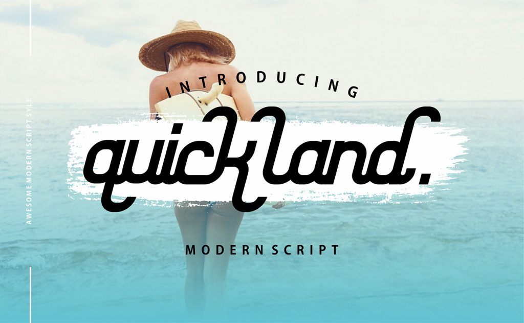 Free Download: Quick Land Font