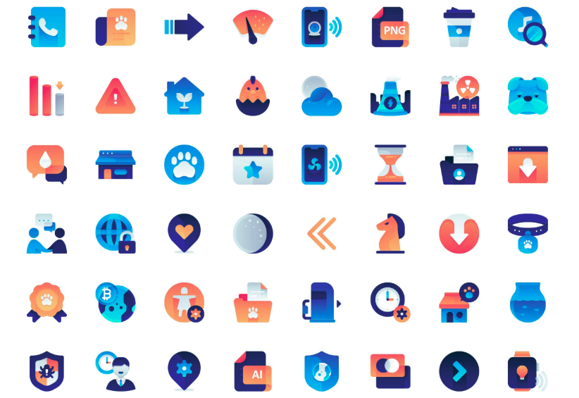 Free Download: 100 Gradient Icons