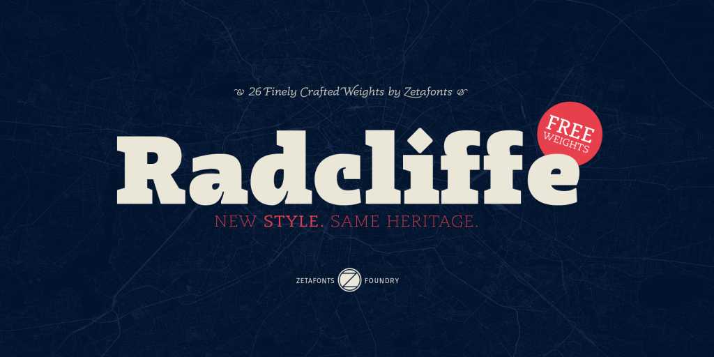 Free Download: Radcliffe Typeface
