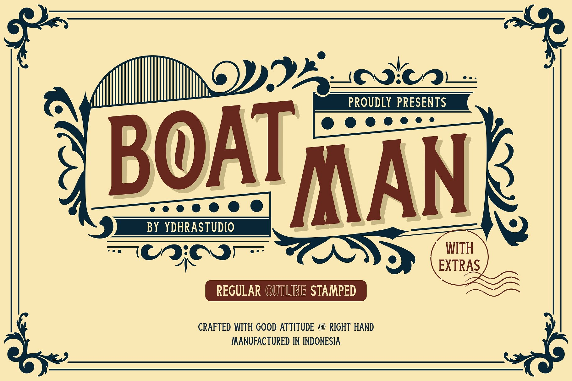 Free Download: Boatman Display Font