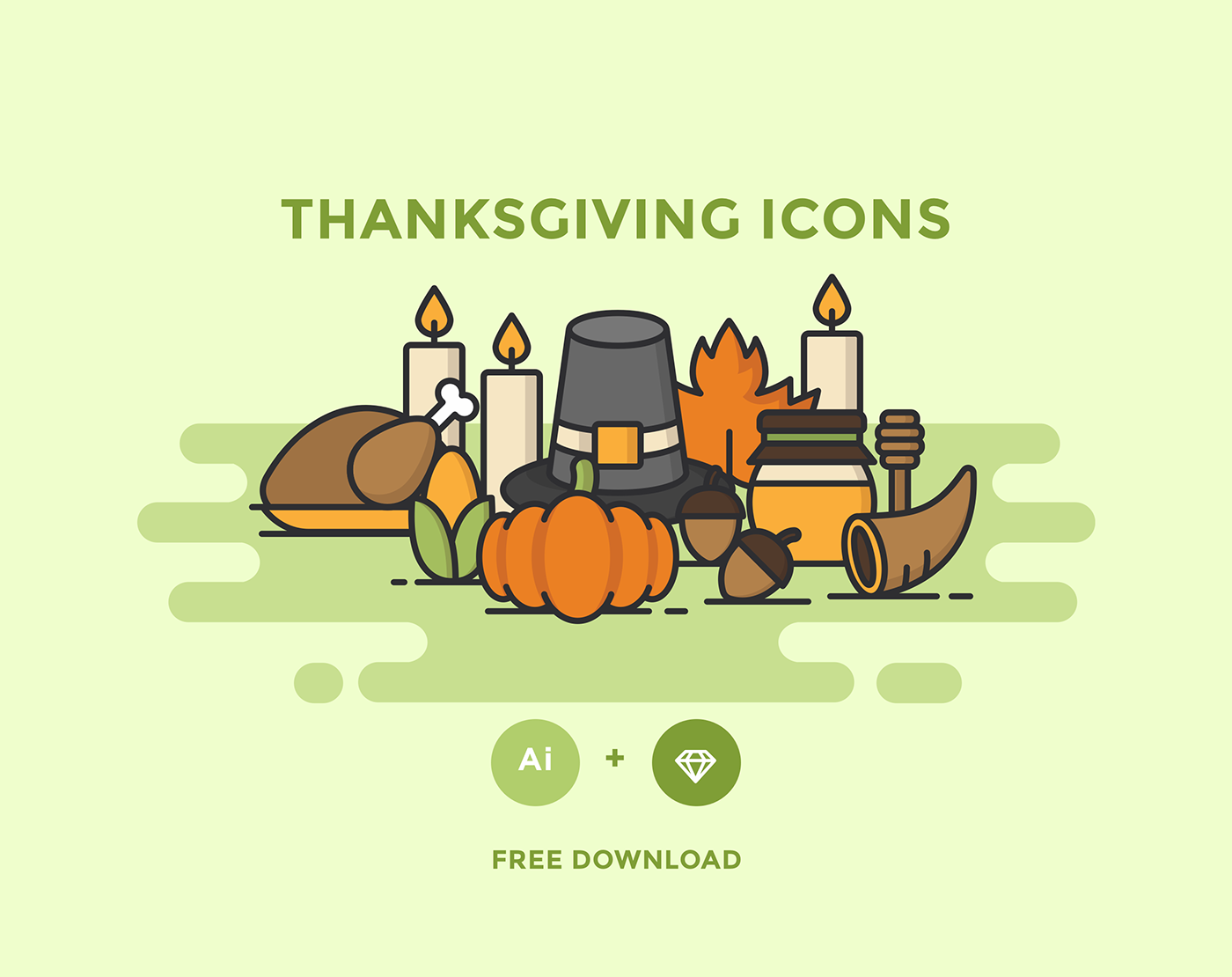 Free Download: Thanksgiving Icons