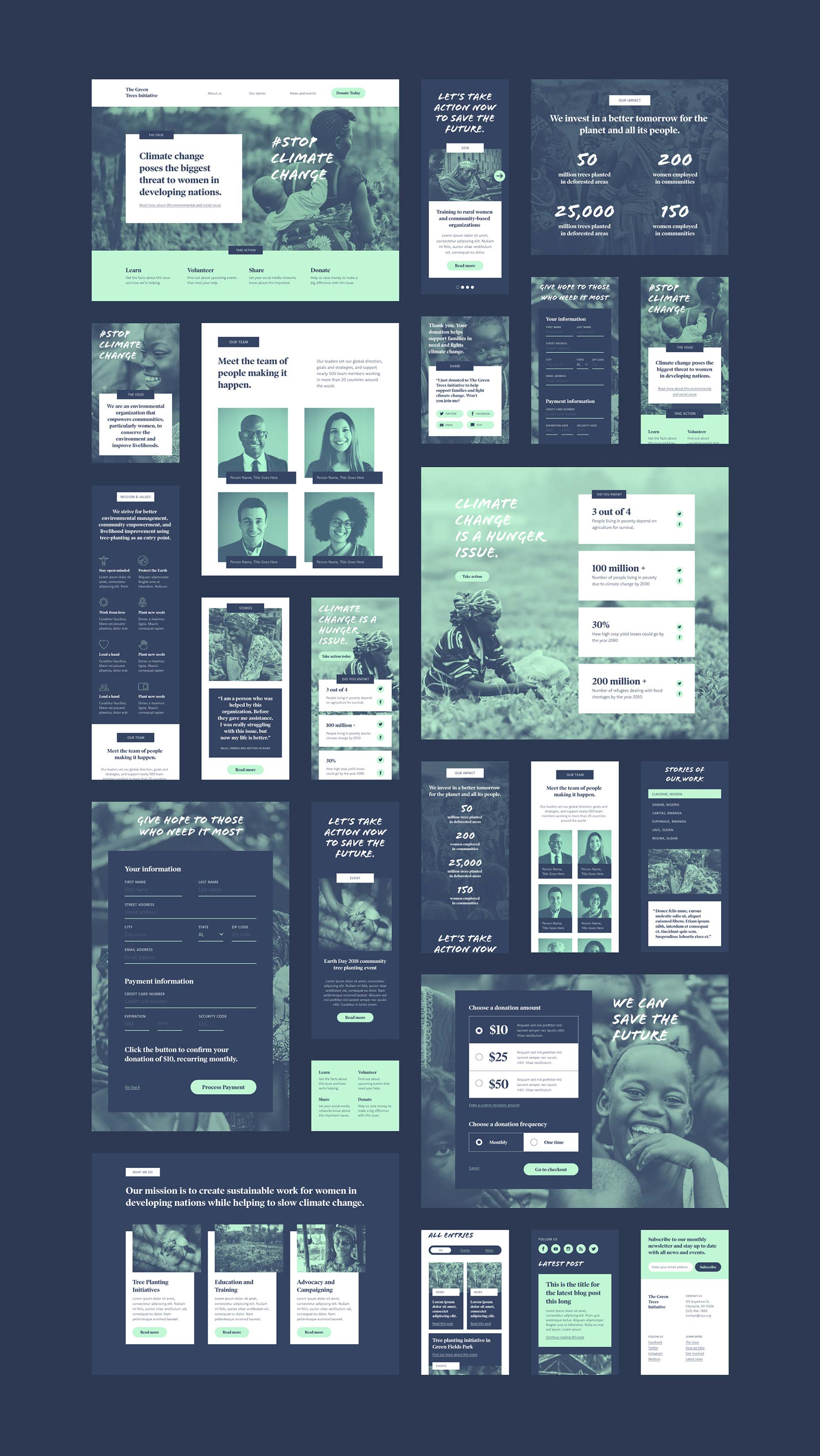 Free Download: Non-Profit UI Kit for Adobe XD | Webdesigner