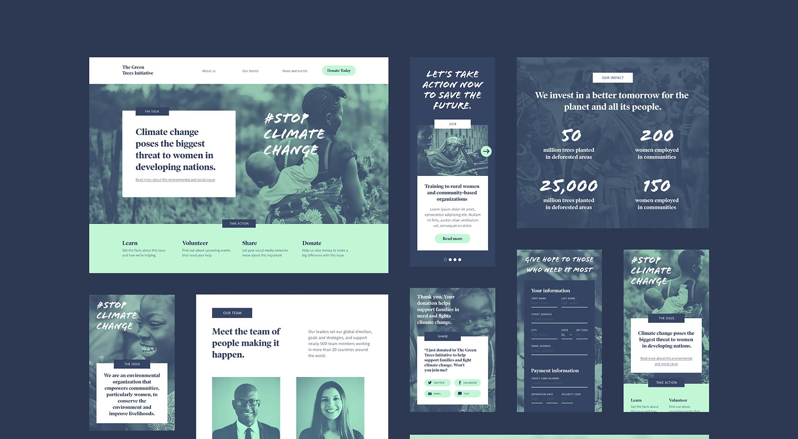 Free Download: Non-Profit UI Kit for Adobe XD | Webdesigner