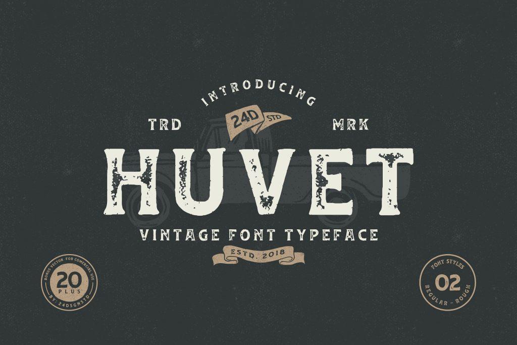 Free Download: Huvet Font