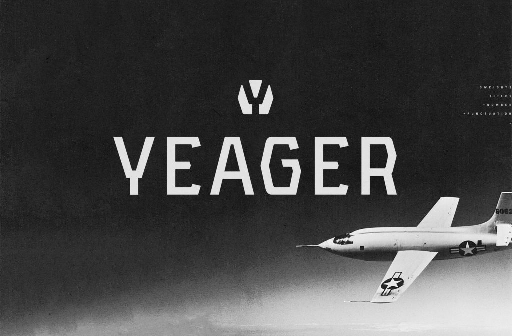 Free Download: Yeager Font