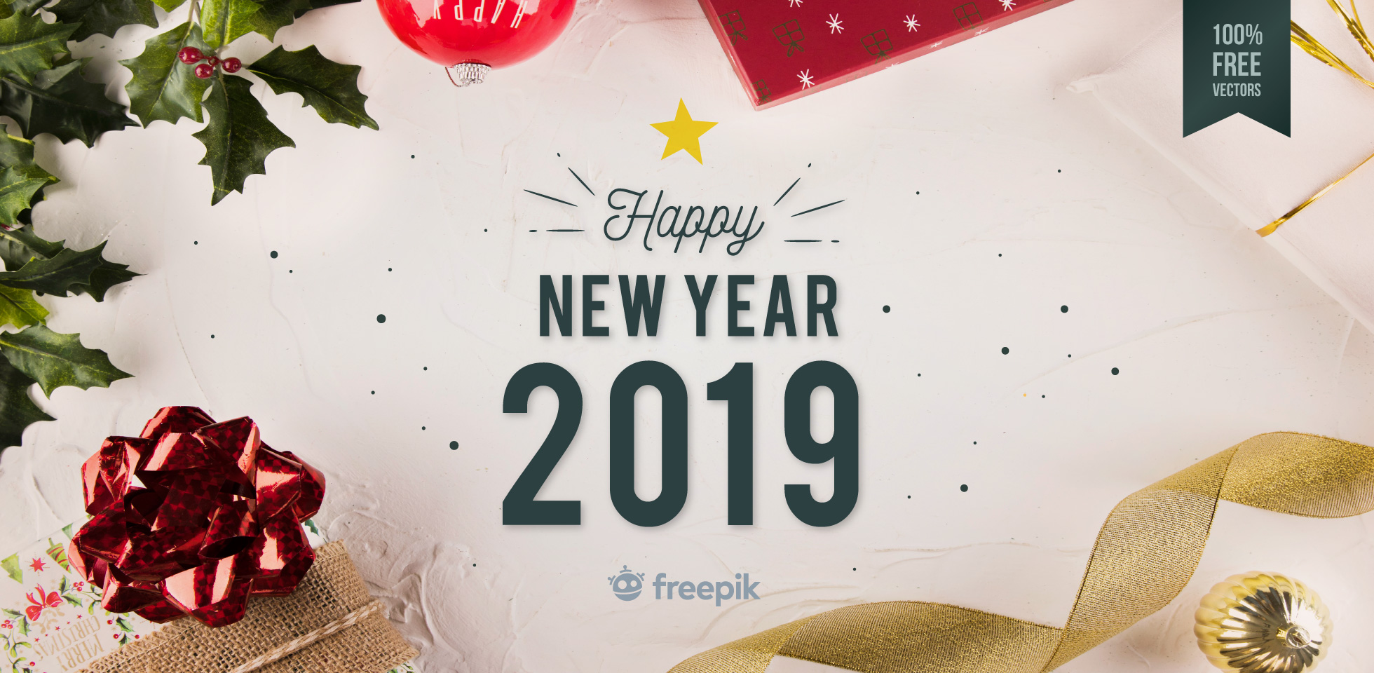 Free Download: Happy New Year Vector Set