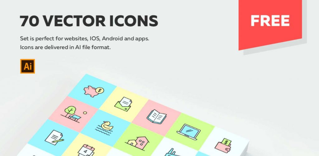 Free Download: 70 Multipurpose Vector Icons