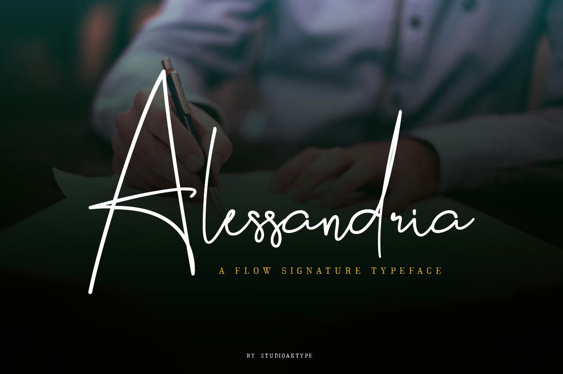 Free Download: Alessandria Signature Font