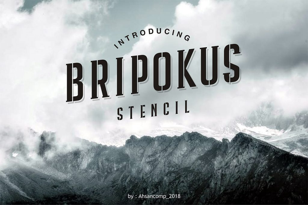 Free Download: Bripokus Stencil Font