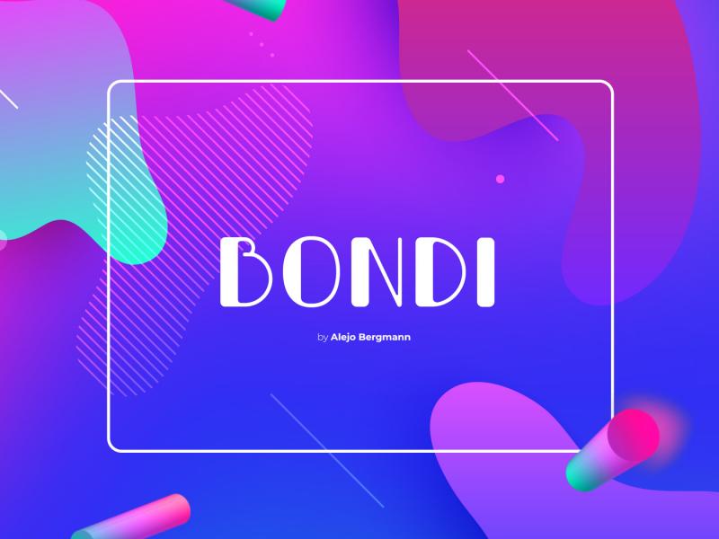 Free Download: Bondi Font