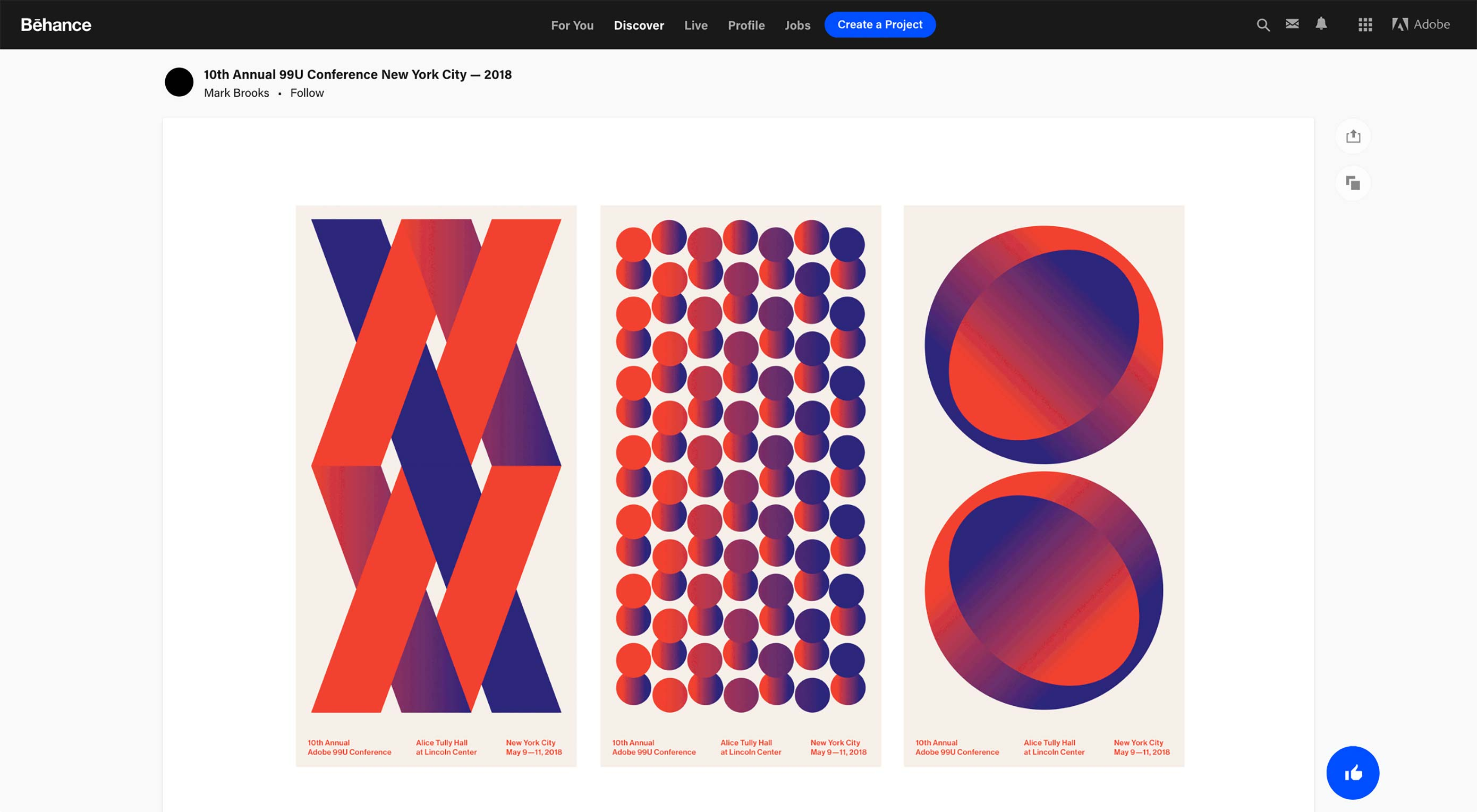 Behance Redesigns its Portfolios