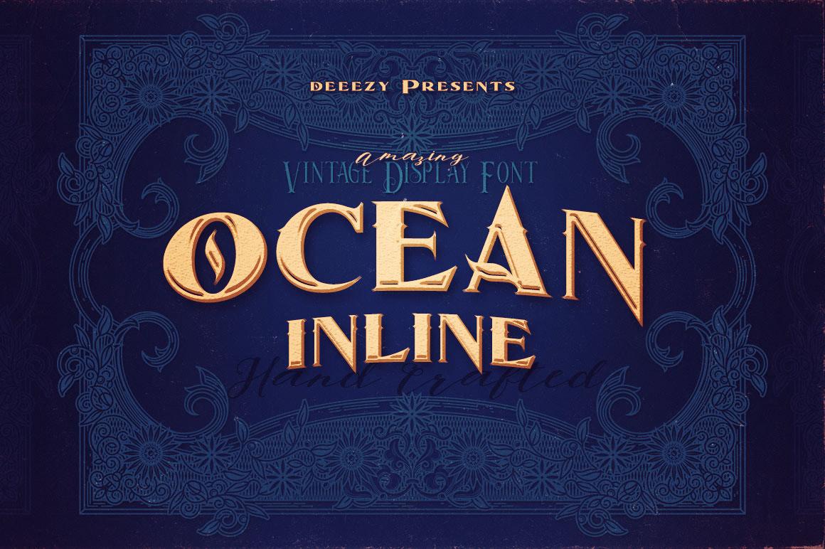 Free Download: Ocean Inline Font
