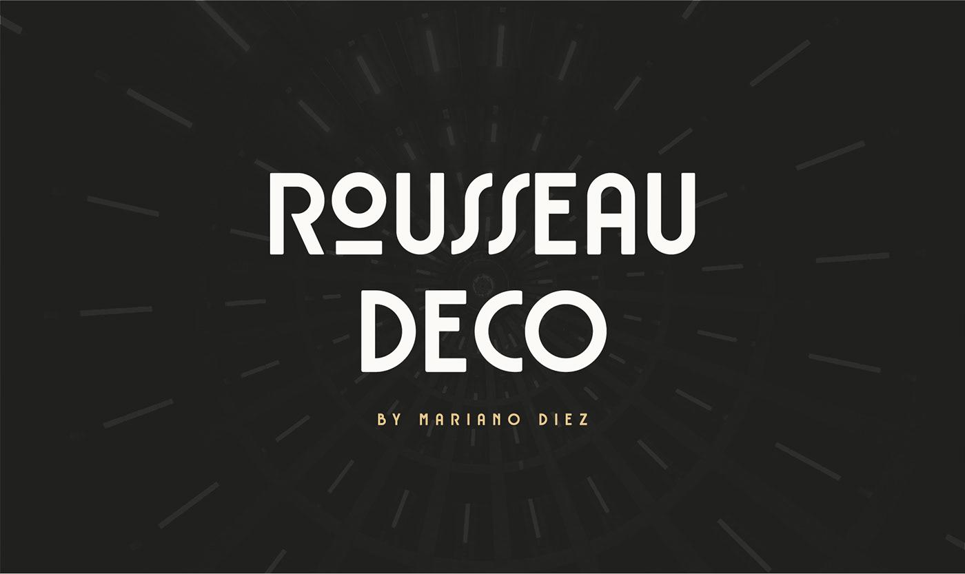 Free Download: Rousseau Deco Font