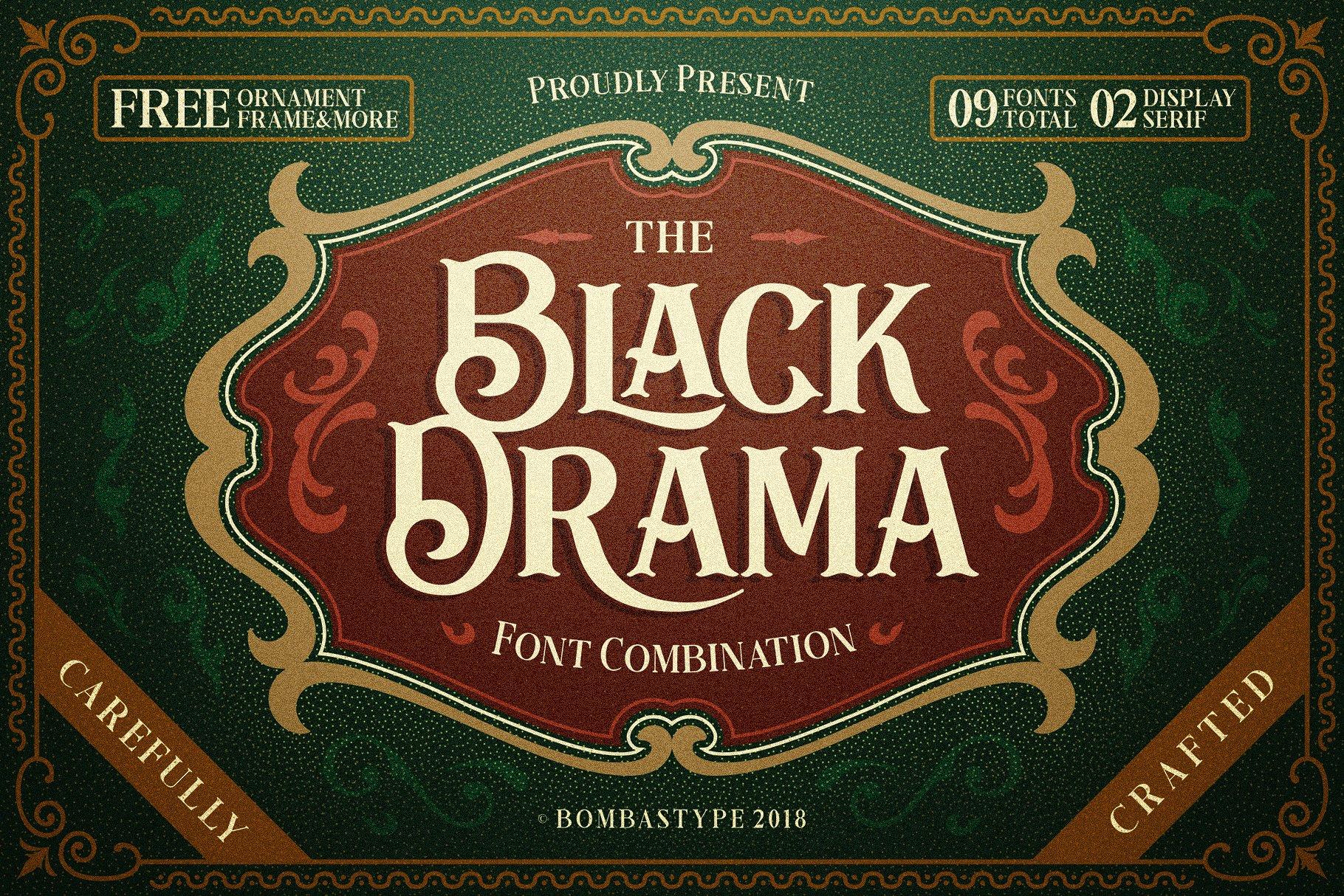 Free Download: Black Drama Font