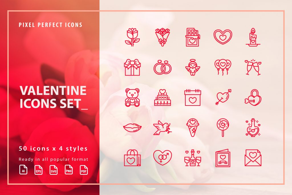 Free Download: Valentine's Day Icon Set