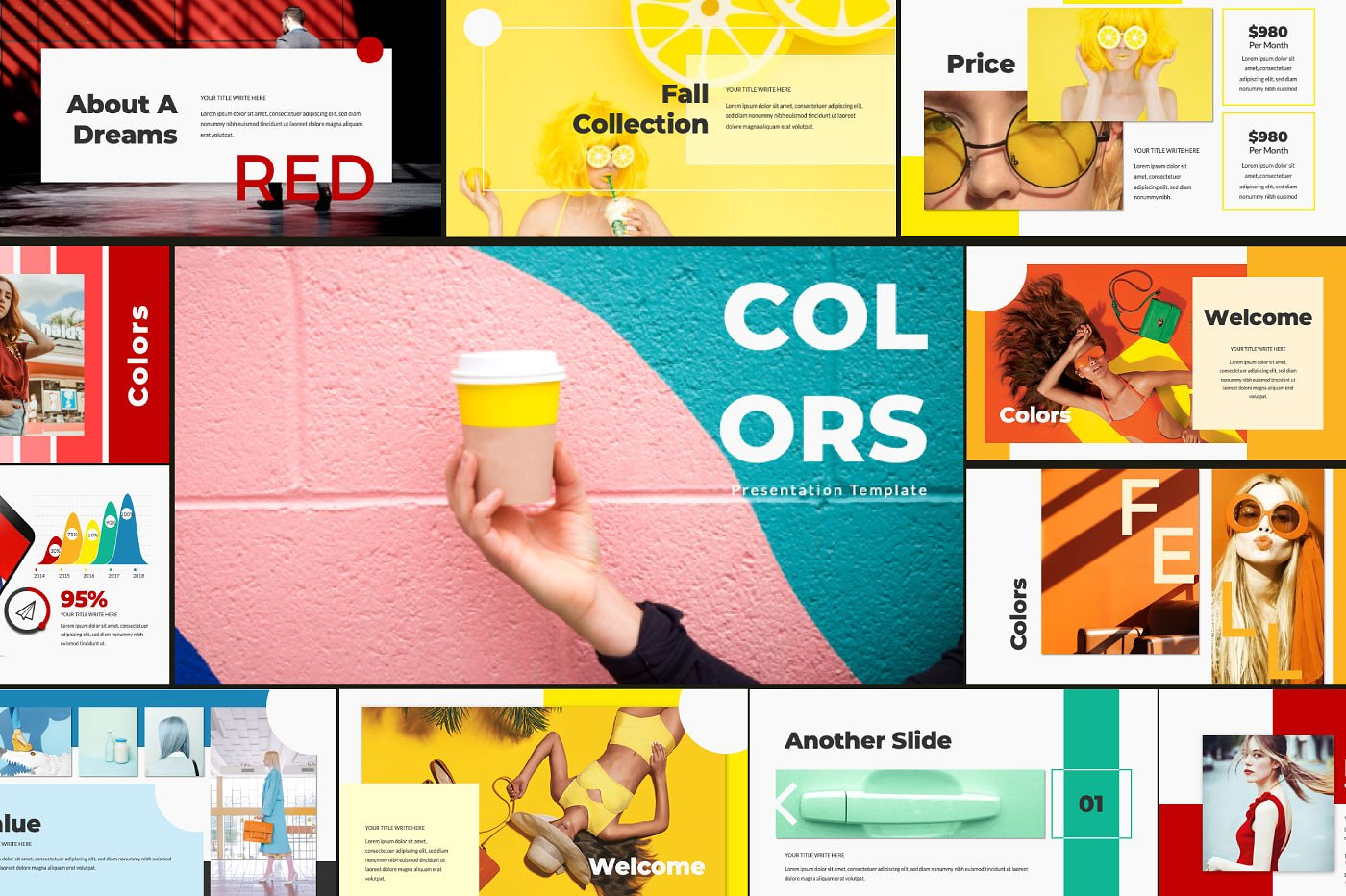 Free Download: Colors Powerpoint Template