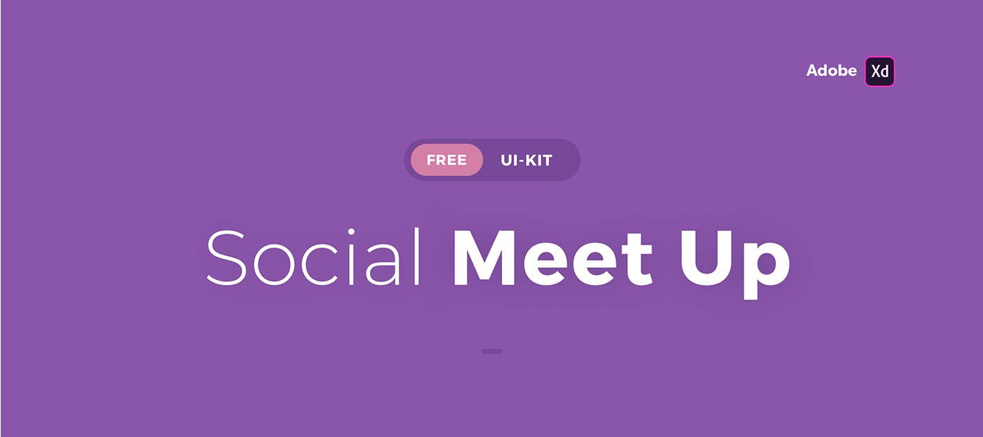 Free Download: Social Meet Up UI Kit for Adobe XD