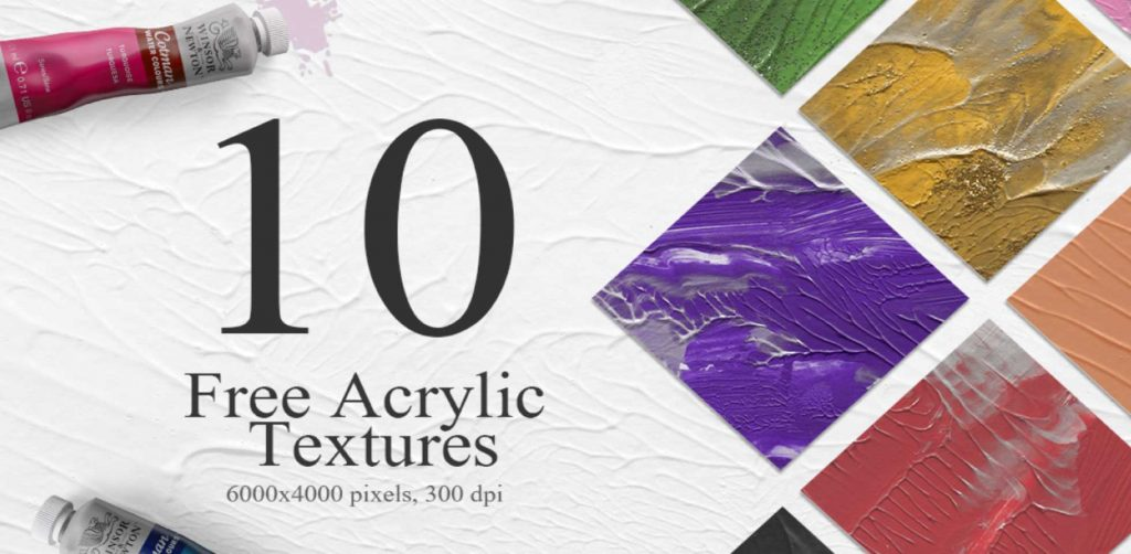 Free Download: 10 Unique Acrylic Textures