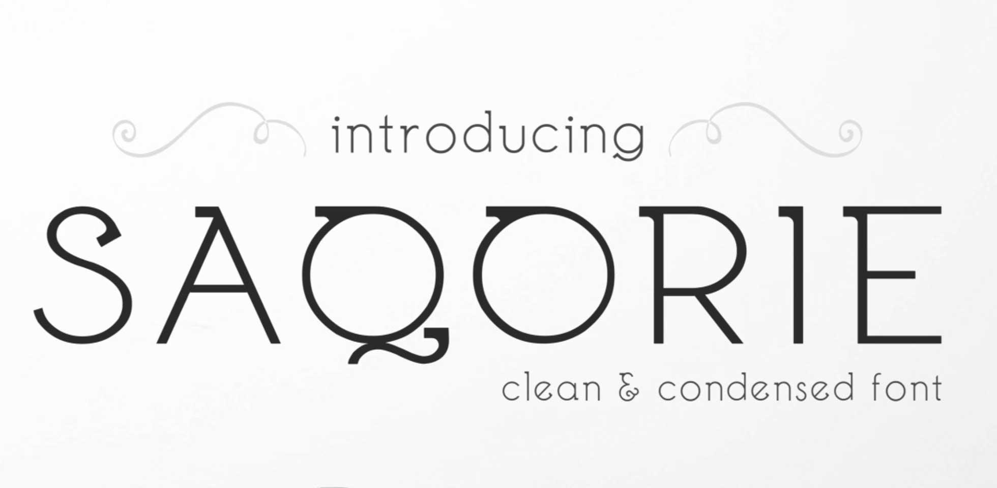 Free Download: Saqorie Font