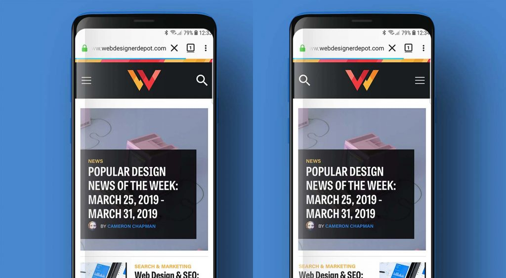 Firefox Mobile Introduces Left-Handed Browsing