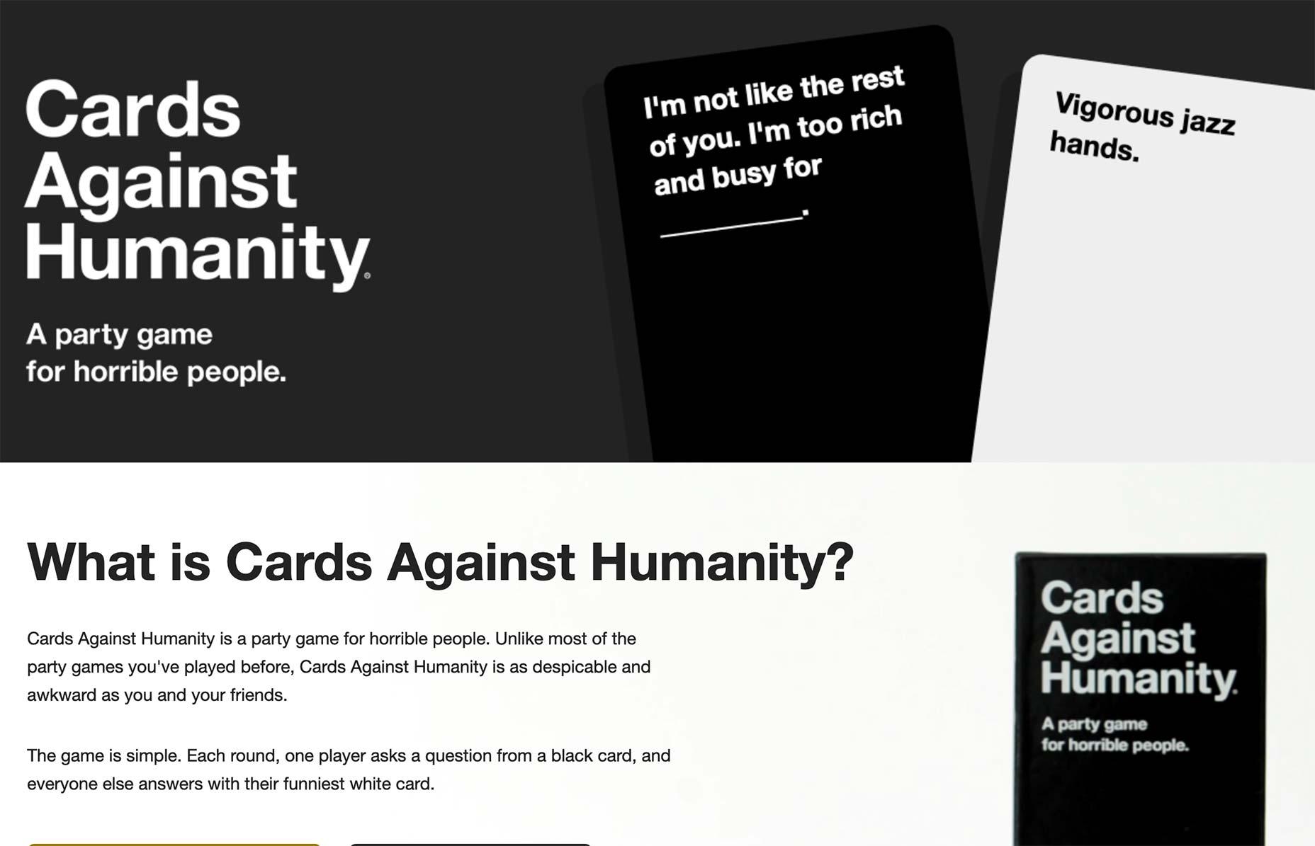 cardshumanity