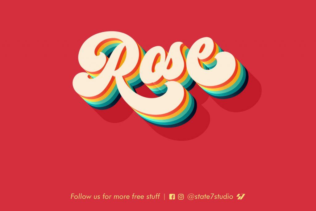 Free Download: Rose Text Effect